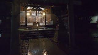 【4K】Backstreets of Japan at night - 3 - Heavy rain