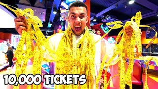 Who Can WIN the MOST TICKETS at the ARCADE in 1 HOUR - Challenge