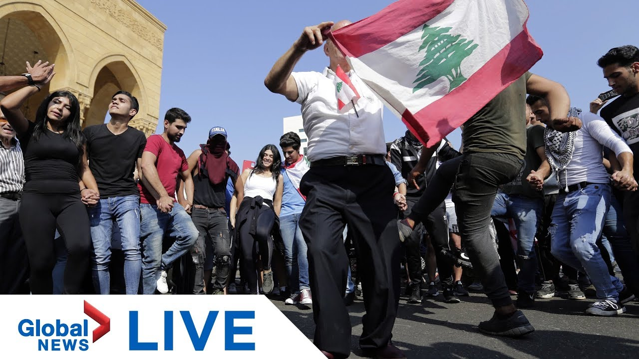 Lebanon protests: Lebanese PM al-Hariri expected to address nation | LIVE