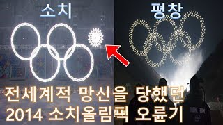 올림픽 역대급 대참사 - 2014 소치올림픽 오륜기 (Sochi Olympics Rings Fail)