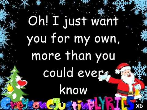All I Want For Christmas Is You By Justin Bieber duet with Mariah Carey (lyrics).wmv
