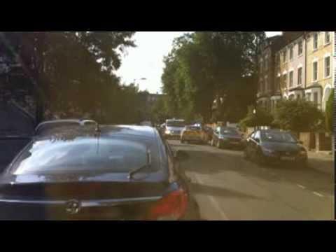 London police chasing car