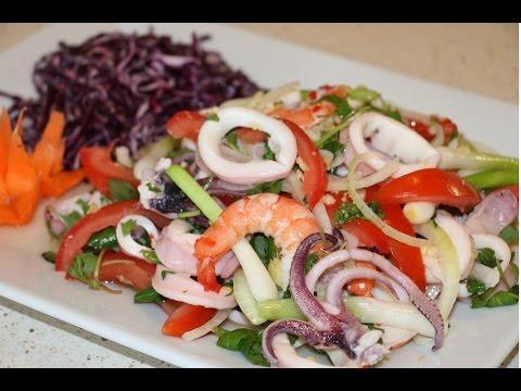 Cách làm Gỏi tôm mực chua cay | BẾP VIỆT 24