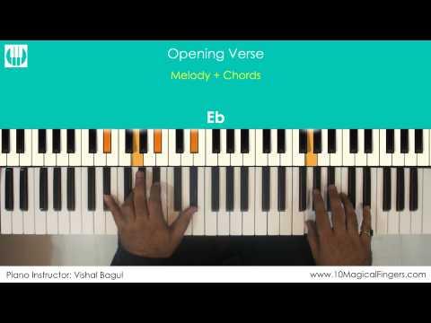 Main Hoon Hero Tera Piano / Keyboard Tutorial with Notation Sheet | www.10MagicalFingers.com