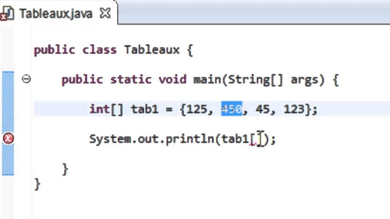 Programmer En Java Debutant 40 Afficher Les Elements D Un