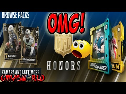 NFL HONORS KAMARA & LATTIMORE ARE SOOO GLITCHY MADDEN 18 ULTIMATE TEAM NEW MUT 18 CARDS