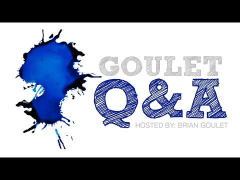 Goulet Q&A Episode 56: Celluloid, Holiday Card Inks, and Oblique Nibs