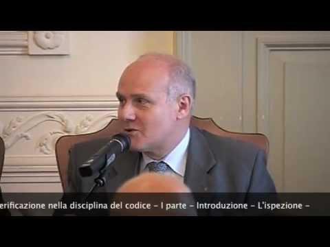 prof. avv. Giampiero Balena - I Parte - Ordine di ispezione nella disciplina del Codice -