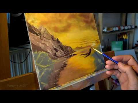 Bakos ART _ Landscape oil painting tutorial
