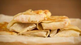 Закуска в лаваше - Закуска из лаваша - С сыром и ветчиной