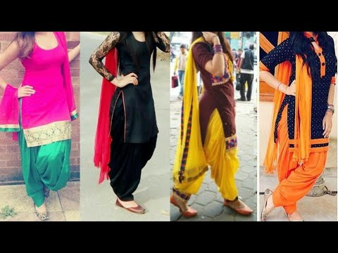 Daily wear simple Punjabi suit designs/patiala Salwar with Kurta dupatta ideas/latest suit designs