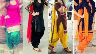 Daily wear simple Punjabi suit designs/patiala Salwar with Kurta dupatta ideas/latest suit designs