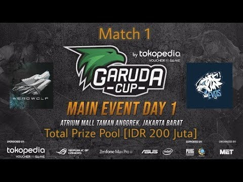 SEMI FINAL AEROWOLF Vs EVOS, Match 1 Garuda Cup -Mobile Legend