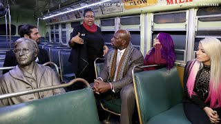 Black History Month: Superstars learn about the Montgomery Bus Boycott at the National Civil Right..