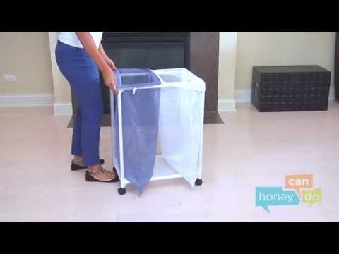 Honey-Can-Do HMP-01628 2-Bag Mesh Hamper Instruction Video