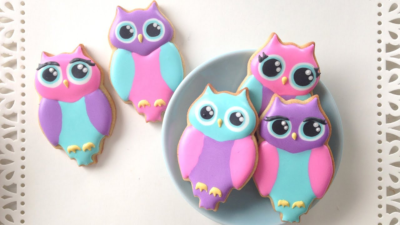 Owl Decorated Cookies How To Decorate Owl Cookies Youtube