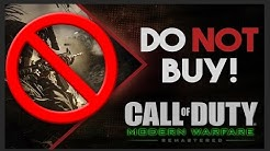 Don't Buy Modern Warfare Remastered On PC