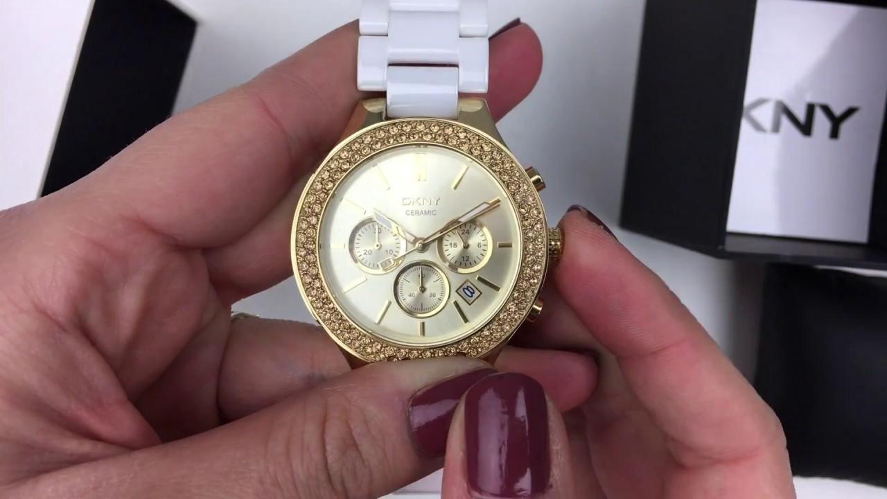 e5fa646711f Dámske keramické hodinky NY8260 - YouTube