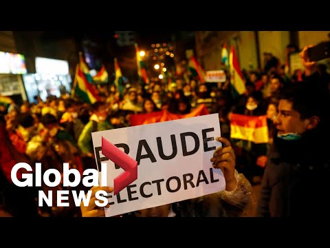 Protest Held Outside Bolivia's Supreme Electoral Court Over Vote Results Of Presidential Election