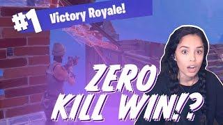 Zero Kill Fortnite Solo Win! - Valkyrae [PC Battle Royale]