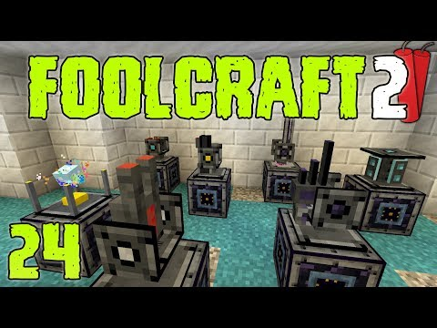 FoolCraft 2 Modded Minecraft 24 Trying Out The Turrets!