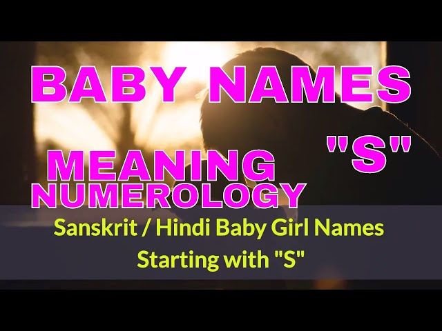 Girl Baby Names Starting With S In Sanskrit Hindi Most Beautiful