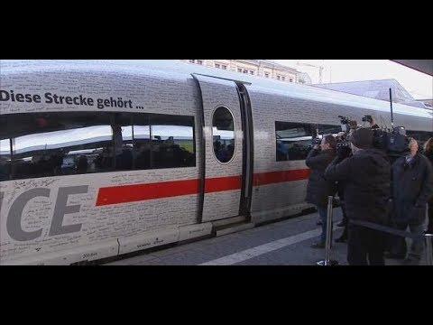 Hochgeschwindigkeit: Deutsche Bahn eröffnet Schnellstrecke zwischen Berlin und München
