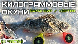 Ловля КРУПНОГО окуня на балансир и чертика зимой зимняя рыбалка 2021