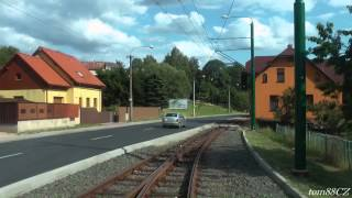 Tramvajová trať: Jablonec nad Nisou - Liberec (Viadukt), linka 11 (7/2015)