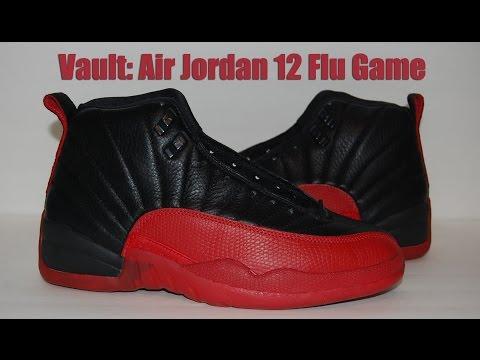 hot sale online 89eaa fbff4 Vault  Air Jordan 12 Original (OG) Flu Game - Bred 1997 - YouTube