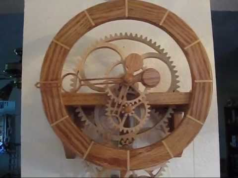 Simplicity Wooden Gear Clock - YouTube