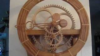 Simplicity Wooden Gear Clock