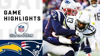 Chargers vs. Patriots Divisional Round Highlights | NFL 2018 Playoffs Video