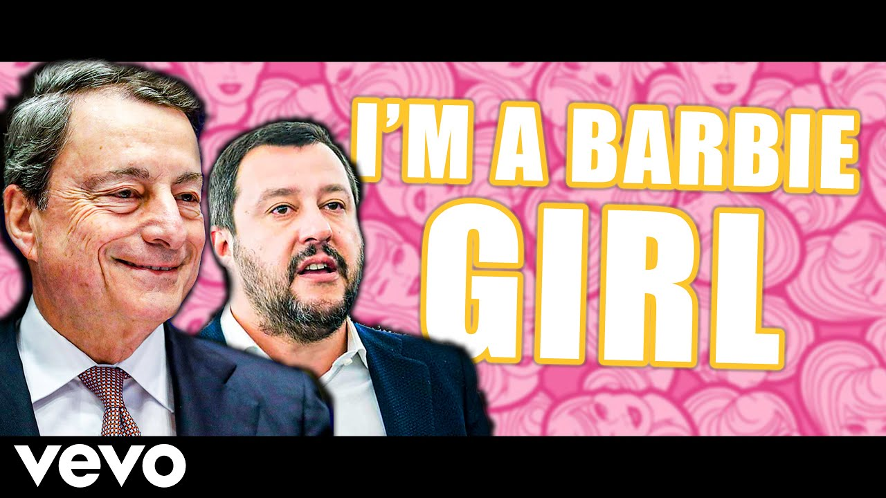 Mario Draghi (feat. Salvini) canta BARBIE GIRL