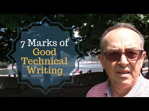 Technical Writing | 7 Marks of Good #Technical #Writing #techcomm