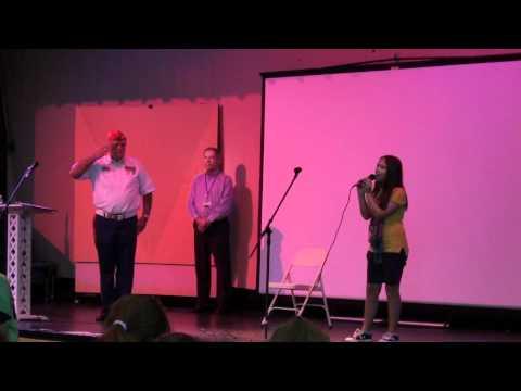 National Anthem Tori Osceola Age 12 CSN Veteran