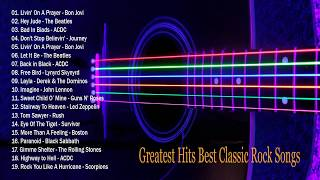 Baixar Bon Jovi, U2, Scorpions, Guns N' Roses, Led Zeppelin Greatest Hits - CLASSIC ROCK SONGS OF ALL TIME