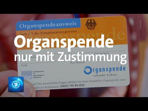 Organspende: Bundestag stimmt