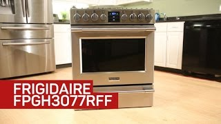 A powerful burner is the highlight of this Frigidaire gas stove