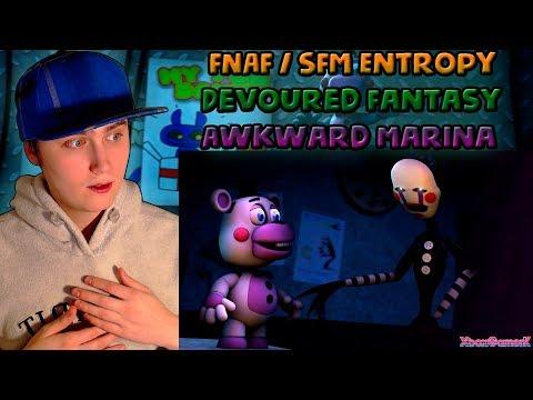 FNAF / SFM | Devoured Fantasy | Awkward Marina (Sim Gretina Remix) - Entropy | REACTION