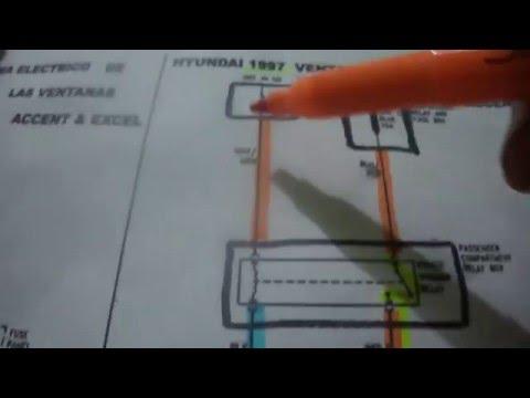 Circuito Levanta Vidrios Electricos : Diagrama de ventanas electricas de hyundai 97 youtube