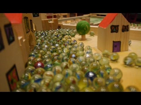 10000 marbles rolling on a giant marble run _ Part 2