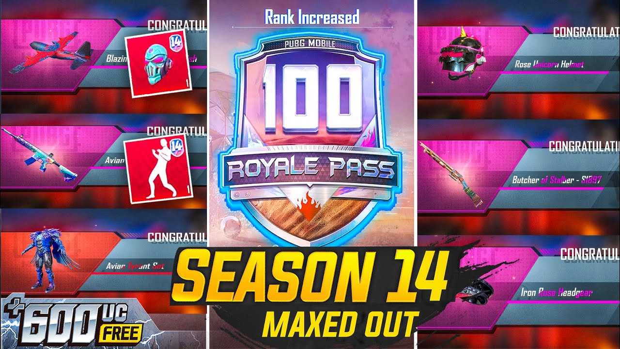 🔥100 RP MAXOUT SEASON 14 AND FREE 600UC REDEEM CODE PUBG MOBILE COOL GAMERS