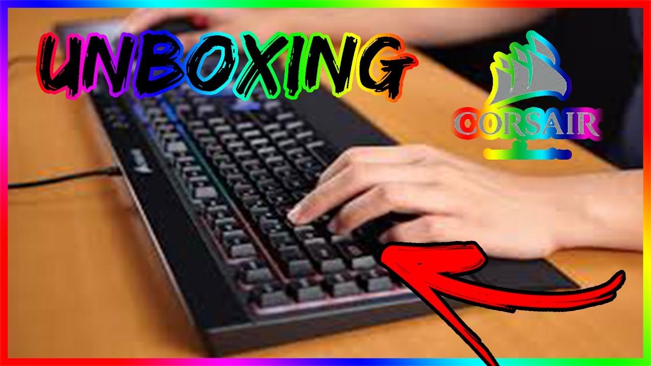 unboxing d 39 un clavier gamer corsair le k55 youtube. Black Bedroom Furniture Sets. Home Design Ideas
