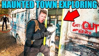 EXPLORING ABANDONED TOWN! (HAUNTED) 😱 We're Being Followed By THE MAN