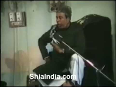 1990 Maulana Baquer Agha Hadees Hussaini Kothi at 8th Muharram 1411 Hijri