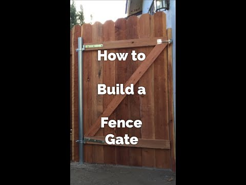 How To Build a Fence Gate - DIY - Build a Swinging Gate