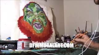 Action Bronson Art   Speed Painting Abstract Bronson   Max Juhasz 2016