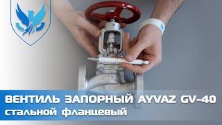 ⛲️???? Вентиль фланцевый стальной Ayvaz GV-40 Ду 20, ???? видео обзор клапан запорный стальной фланцевый