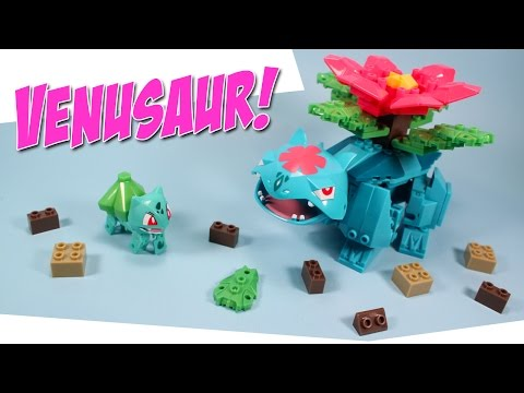Ionix Pokemon Bulbasaur to Mega Venusaur Building Set: * UPDATE 8/17/16: I skipped over Ivysaur evolution, as I was basically going over EXACTLY what the instructions say to build. Silly off brand LEGO toy.  I did forgot about old Ivysaur, as it had been a number of years since I played my original Game BOY copy, and I evolved my Ivysaur so fast, that it was wiped from my memory. Sorry for confusion, please be nice. :)  Ionix Building Construction Sets for Pokemon. Mega Venusaur, Set #33001, 131 Pieces, Found USA retail, Toys R US $24.99.